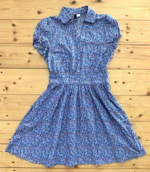 wunderbares Blumen Kleid von H&M NEU! mit weit ausgestelltem Rockteil, tailliert Gr. 36 38
