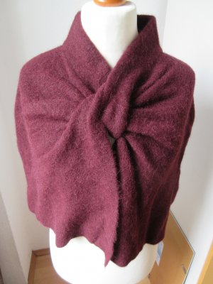 COS Cape bordeaux-carmine alpaca wool
