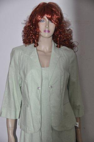 Charles Vögele Shortsleeve Dress pale green linen