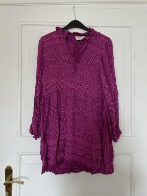 Cecilie Copenhagen Babydoll-jurk violet Katoen