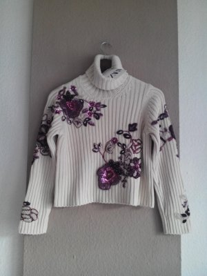 wunderchöner Schmuck-Pullover aus 100% Baumwolle, Limited Edition, Grösse M, neu
