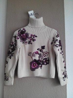 wunderchöner Schmuck-Pullover aus 100% Baumwolle, Limited Edition, Grösse S, neu