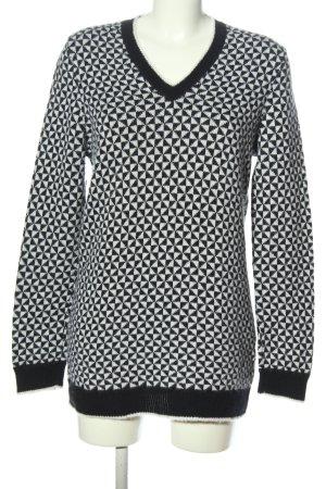 Wunderkind Kaszmirowy sweter biały-czarny Na całej powierzchni W stylu casual