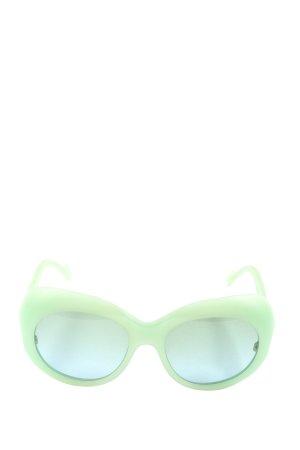 Wunderkind Lunettes de soleil rondes vert imprimé avec thème