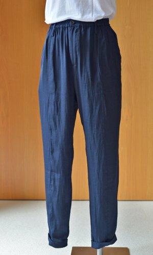 Wunderkind Pantalon taille haute bleu foncé-bleu polyester