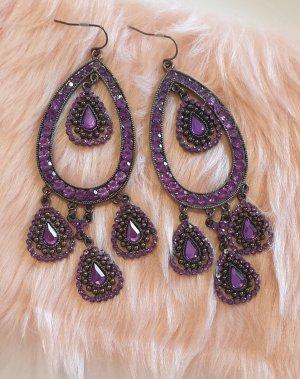 Statement Earrings black-lilac