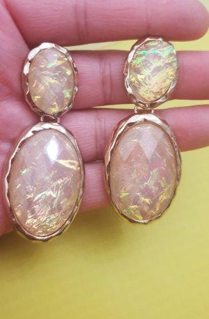 Woman Collection H&M Wiszące kolczyki złoto-kremowy