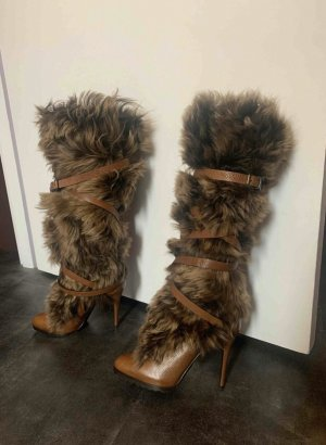 Ralph Lauren High Heel Boots brown leather