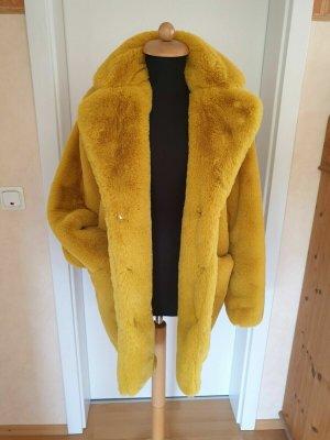 K.Zell Futrzana kurtka limonkowy żółty Poliakryl