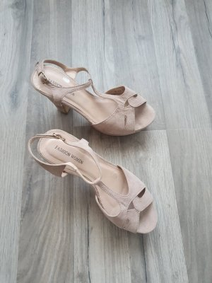 Platform Sandals cream-light brown