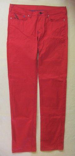 Wunderschöne ADIDAS Hüfthose in rot, 5 Pocket Hose, Größe DE 38