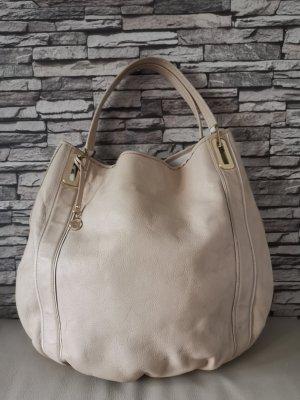 Wunderschöne Anya Hindmarch Beuteltasche Tasche beige Creme gross
