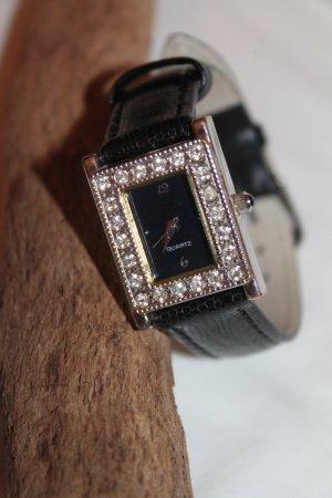 wunderschöne Armbanduhr * Kristalle * einmal getragen *