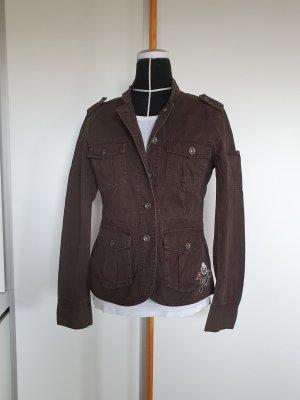 Authentic Style Veste en jean multicolore coton