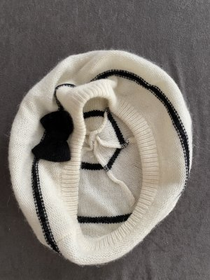 Promod Beret white-black