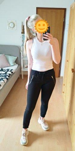 Pantalon large noir-argenté