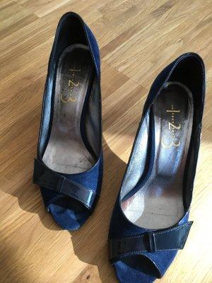 1.2.3 Paris Peep Toe Pumps dark blue