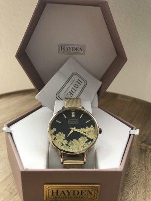 hayden Zegarek z metalowym paskiem czarny-złoto