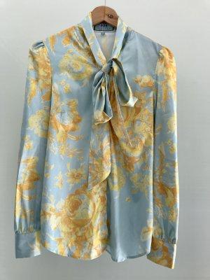 Hawes & Curtis Tie-neck Blouse baby blue-primrose