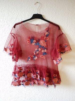 wunderschöne Bluse aus Spitze mit Blumenmuster