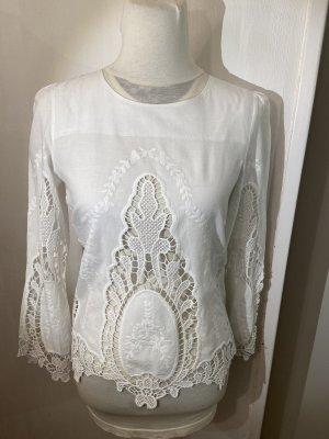 Wunderschöne Bluse in weiß vielfach kombinierbar wie Neu Gr S
