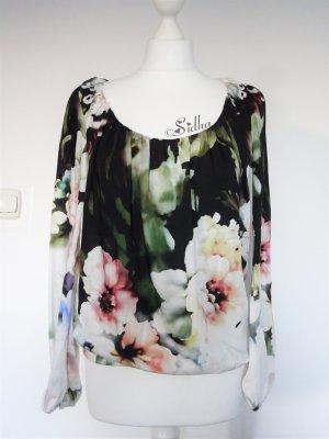 Wunderschöne Bluse mit Blumenprint * Shirt * Langarmshirt