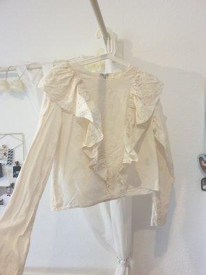 wunderschöne Bluse mit Volantkragen