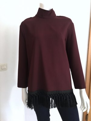 Zara Woman Blusa con collo alla coreana multicolore