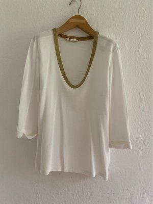 Maje V-Neck Sweater white-gold-colored viscose