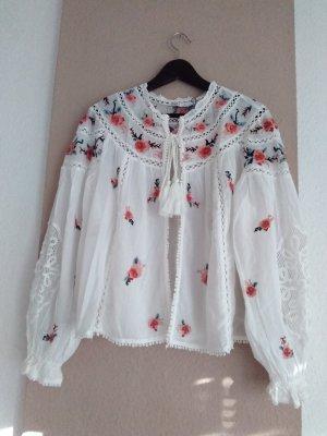 wunderschöne Blusenjacke aus 100% Baumwolle, Grösse L, neu