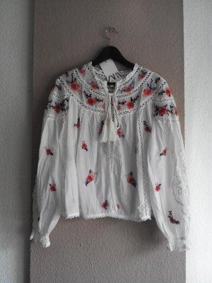 Zara Veste chemisier multicolore coton