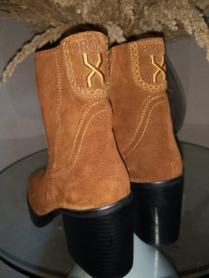 Bronx Krótkie buty cognac