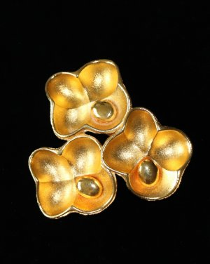 Oscar de la renta Brooch gold-colored metal