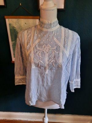 Closed Blusa de encaje blanco-azul