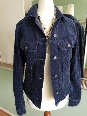 Burberry Cord Jacket dark blue cotton