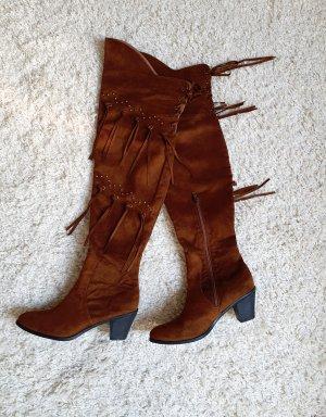 wunderschöne Cowboy-Overknee Stiefel