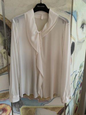 Aglini Blusa de seda blanco puro