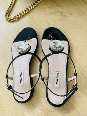 Miu Miu Toe-Post sandals black-nude