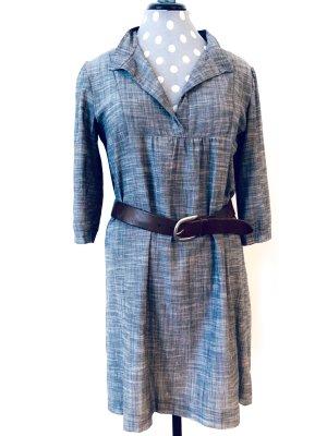 Wunderschöne Designer Kleid Hemdkleid aus Chambray Gr. 36/38