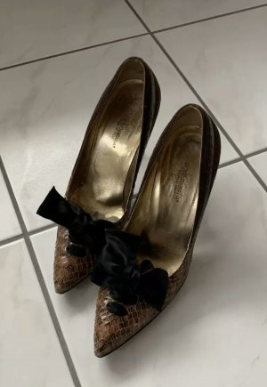 Dolce & Gabbana Tacones Mary Jane negro-color bronce
