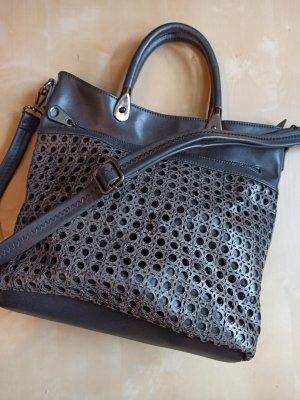 Wunderschöne dunkelgraue Tasche Henkeltasche Handtasche Cross Body Umhängetasche wenig gebraucht!