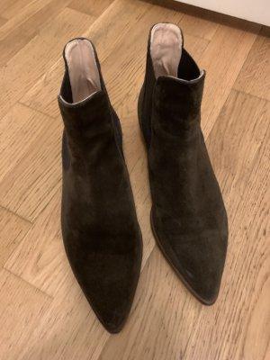 AGL Slip-on laarzen groen-grijs