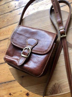 Wunderschöne Echt Leder Handtasche. Handgefertigt in Italien.