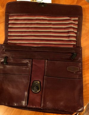 HAROLD'S Briefcase bordeaux leather