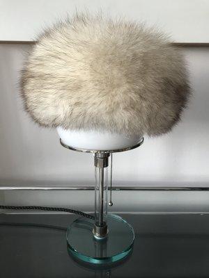 Sombrero de piel blanco puro-marrón claro Pelaje