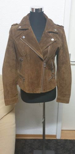 Vero Moda Leather Jacket cognac-coloured