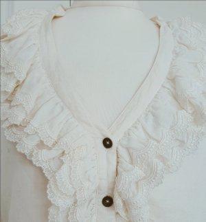 Wunderschöne edle Bluse von Drykorn cremeweiß 36