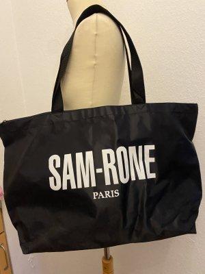 Sam-Rone Borsa shopper nero-bianco