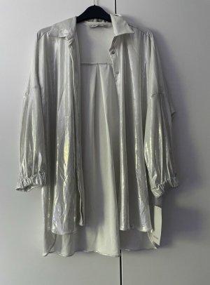 Zara Splendor Blouse white-silver-colored