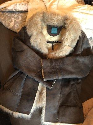 Wunderschöne Fell Leder Jacke